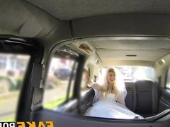 Blonde bride gets her pussy stuffed with drives fat dick