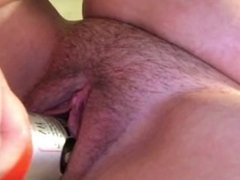 Tight pussy big bottle