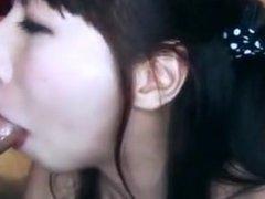Japanese Blowjob to 2 guys and get Facial for more- www.cutegirlsonline.com