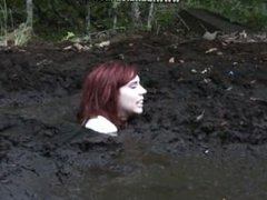 Two arrogant women get stuck in quicksand while going through the woods