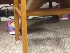 Candid Ebony Feet in Library 11