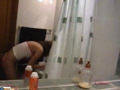Bathroom fun and niples play