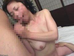 Asian mom having threesome