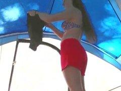 Hidden cam teen in tent