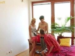 bisexual bareback threesome