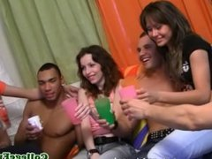 Euro coeds cumsprayed during college orgy