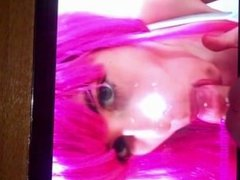 Cum tribute for Lusty-Pink (Her Tongue & her big boobs make cum so hard!!!)
