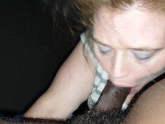 White girl sucking black cock