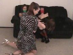 4 women bound in tight bondage P2