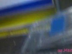 Supermarket public blowjob services.