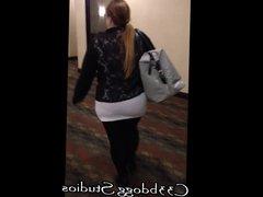 Big Ass Wide Hips Redhead on a Stroll - C33bdogg