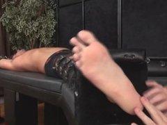 Extreme ticklish feet