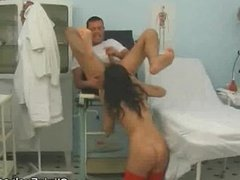 Patient Babe Gets His Doctors Cum