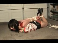 Tight bondage in the garage