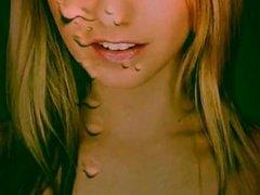 CUM ART - Shooting My Load on Hot Blonde-Best Tributes-JizzLobber