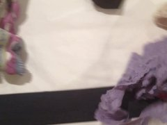 Tour of my sisters sexy panty, bra and lingerie drawers.
