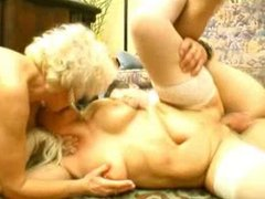 Two dirty grannies and a big cock