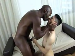 Asian got bareback with big black cock