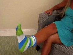 Dominated by Moms toesocks
