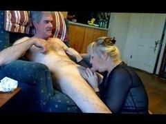 61 yo Granny sucking Grandpa