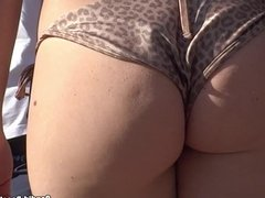 Voyeur Close Up Bikini Ass HD Video