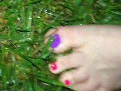 Walking thru wet grass