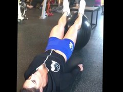 WWE Diva Kaitlyn aka Celeste Bonin working out