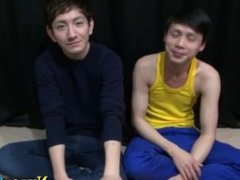 Asian twink strokes cock