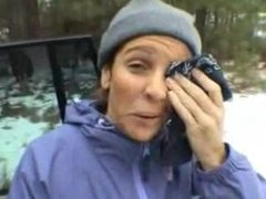 Public Handjob In Aspen Leads To HUGE Facial