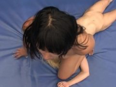 Wrestling: Mia Li vs. Tara Morgan - Nude Lezdom with Extended Facesitting