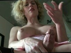 Mature tranny ejaculates loads of cock juices