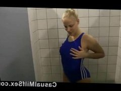 MATURE Gymnast Mom from CasualMilfSex(dot)com fucking in a changing room