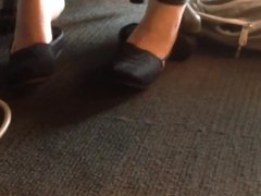 Candid College Computer Lab Shoeplay Feet
