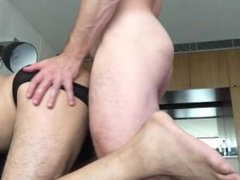 Feeding my uncut cock to a guy