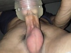 Fucking and cumming inside ice fleshlight