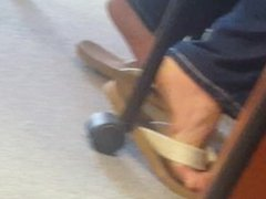 Short candid video of feet