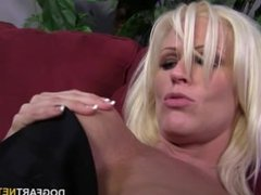 Busty blonde Kaylee Brookshire gets creampied by BBC
