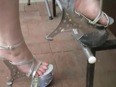 My next door milf with new 7 inch metal heels