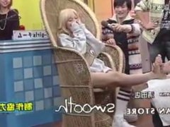 Japanese gameshow foot massage