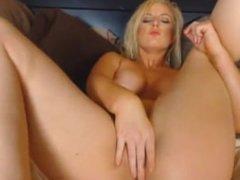 horny blonde holly sanderson solo pussy masturbation