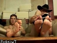 Blowjob gay foot ball Cowboy pals Ty and Lee have never jacked off