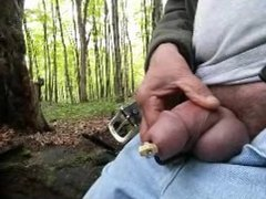 Chastity CBT in woods
