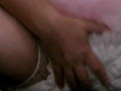diapered sissy in pretty sissy white kneesock