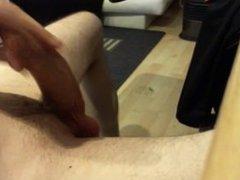big dick with uncut foreskin cumshot