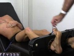 Foot fetish in indian gay movie Cristian Tickled In The Tickle Chair