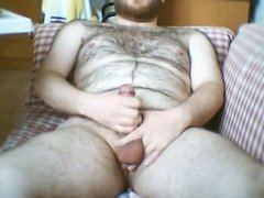 hairy man jerkoff