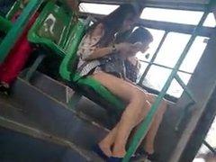 very nice legs on bus