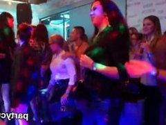 Peculiar chicks get completely insane and stripped at hardcore party
