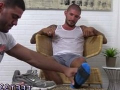 Naked mans feet in gay mans ass Ricky is up for all of them and after