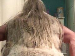 Me feeling sexy in my fur coat